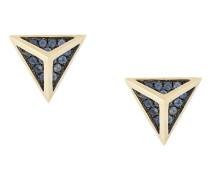18kt 'Tetrahedron' Gelbgold-Ohrstecker mit Saphiren