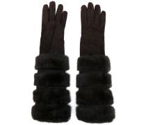 Handschuhe mit Nerzfellelementen