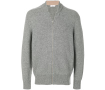 V-neck zip up sweatshirt