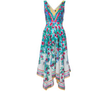 Drapiertes Kleid mit floralem Print - women