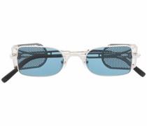 Eckige Shield-Sonnenbrille