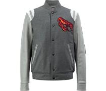 Baseball-Jacke mit Hummer-Stickerei