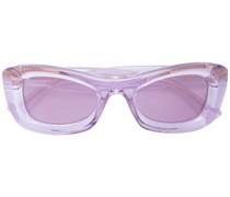 Transparente Brille mit eckigem Gestell