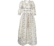 Gestuftes Kleid mit Frilly Heart-Print