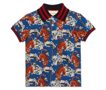 Poloshirt mit Tiger-Print