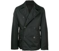 double-breasted gabardine coat