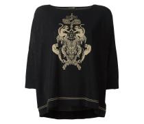 Intarsien-Pullover mit Affenmotiv