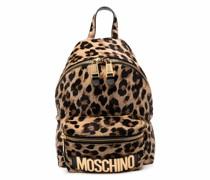 Kleiner Rucksack mit Leoparden-Print