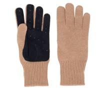 Handschuhe mit Kontrasteinsatz