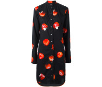 Hemdkleid mit Apfel-Print