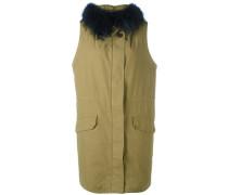 - Mantel mit Pelzkragen - women