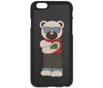 iPhone 6-Hülle mit Bären-Patch - men - Leder