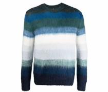 ombré-stripe mohair-blend jumper