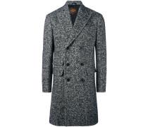 Doppelreihiger Tweed-Mantel