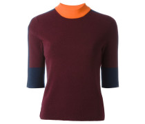 Kaschmirpullover in Colour-Block-Optik