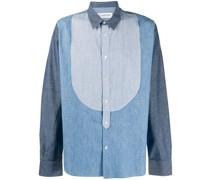 panelled denim shirt