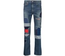Skinny-Jeans im Patchwork-Look