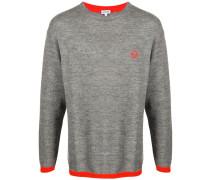 contrast-trim logo-embroidered jumper