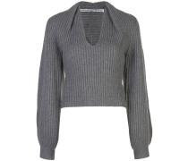 Pullover mit drapiertem Ausschnitt
