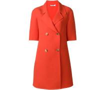 Doppelreihiger Mantel mit kurzen Ärmeln - women