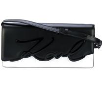 Schultertasche mit Logo-Prägung