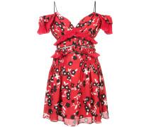 cold shoulder floral mini dress