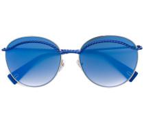 Sonnenbrille mit Bügeln in Kordeloptik