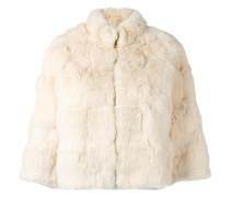 Cropped-Jacke aus Kaninchenpelz