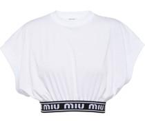 T-Shirt mit Logo-Tape