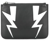 Kleines Portemonnaie mit Blitz-Motiven