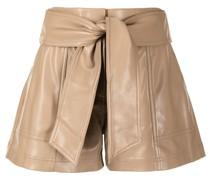 Shorts aus Faux-Leder