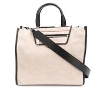 Handtasche mit Kontrastborten