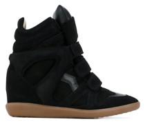 Wedge-Sneakers mit Klettverschluss