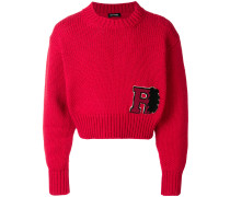 Cropped-Pullover mit Patch