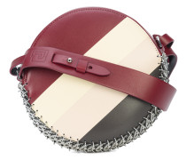 striped round shoulder bag