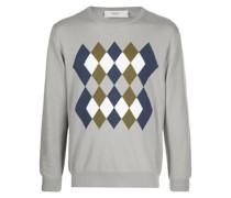 Pullover mit Argyle-Intarsienmuster
