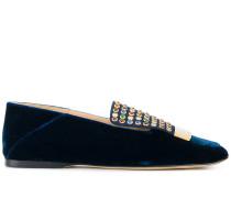 Loafer mit mehrfarbigen Schmucksteinen