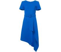 asymmetric hem belted dress