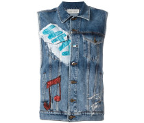 Jeansweste mit Patches - women - Baumwolle - M