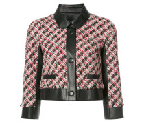 Tweed-Jacke mit Einsätzen