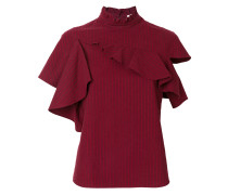 ruffled asymmetric T-shirt