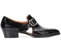 cut-out detail loafers - women