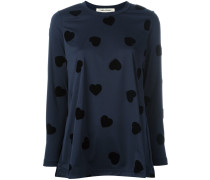 Sweatshirt mit Herzen - women - Polyester - XS
