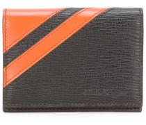Portemonnaie mit diagonalen Streifen