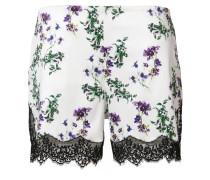 floral print lace shorts