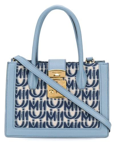'Miu Confidential' Jacquard-Handtasche