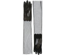Semi-transparente Handschuhe