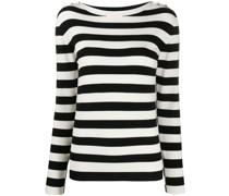 Gestreifter Pullover mit Knopfverschluss