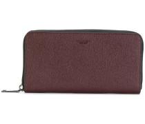 pebbled zip around wallet