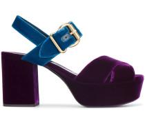 85 Velvet Criss Cross Sandals
